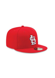 New Era STL Cardinals Mens red Authentic Home 5950 Fitted Hat