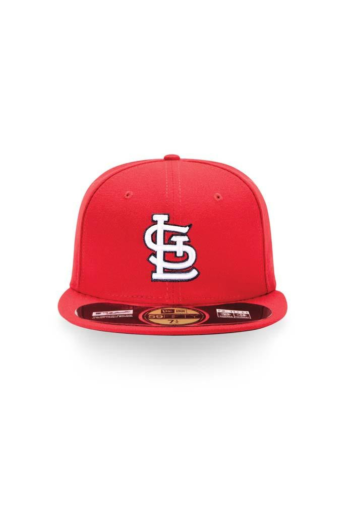 New Era St Louis Cardinals Mens Red Game AC 59FIFTY Fitted Hat - Image 4