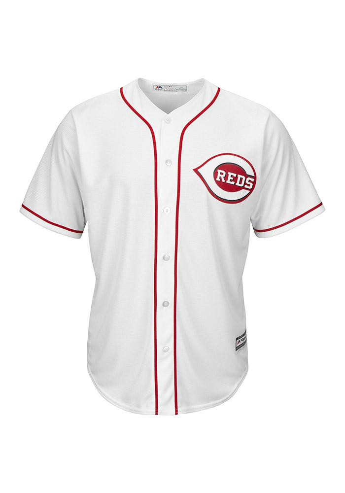 Cincinnati Reds Mens Majestic Replica Cool Base Jersey Jersey - White - Image 2