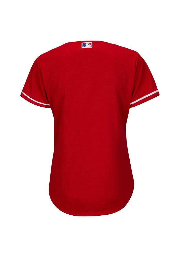 Texas Rangers Womens Majestic Replica Cool Base Jersey Jersey - Red - Image 2