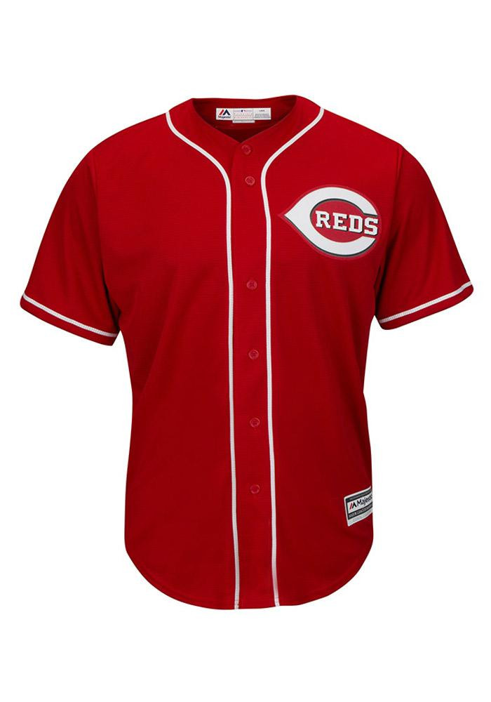 Cincinnati Reds Mens Majestic Replica Cool Base Jersey Jersey - Red - Image 2