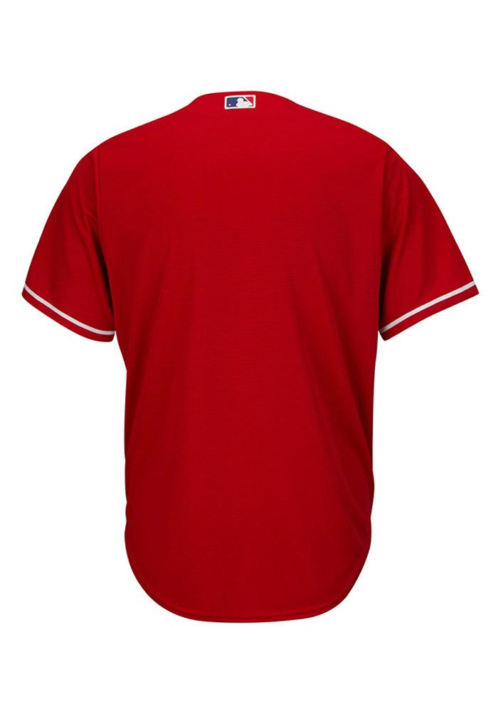 Texas Rangers Mens Majestic Replica Cool Base Jersey Jersey - Red - Image 3