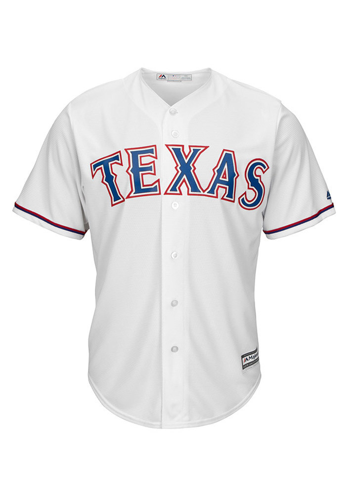 Texas Rangers Mens Majestic Replica Cool Base Jersey Jersey - White - Image 1