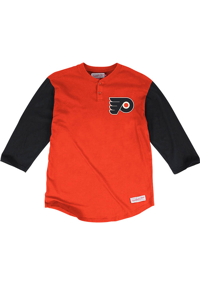 Mitchell and Ness Philadelphia Flyers Orange In the Clutch Fashion Tee f11ae23a1