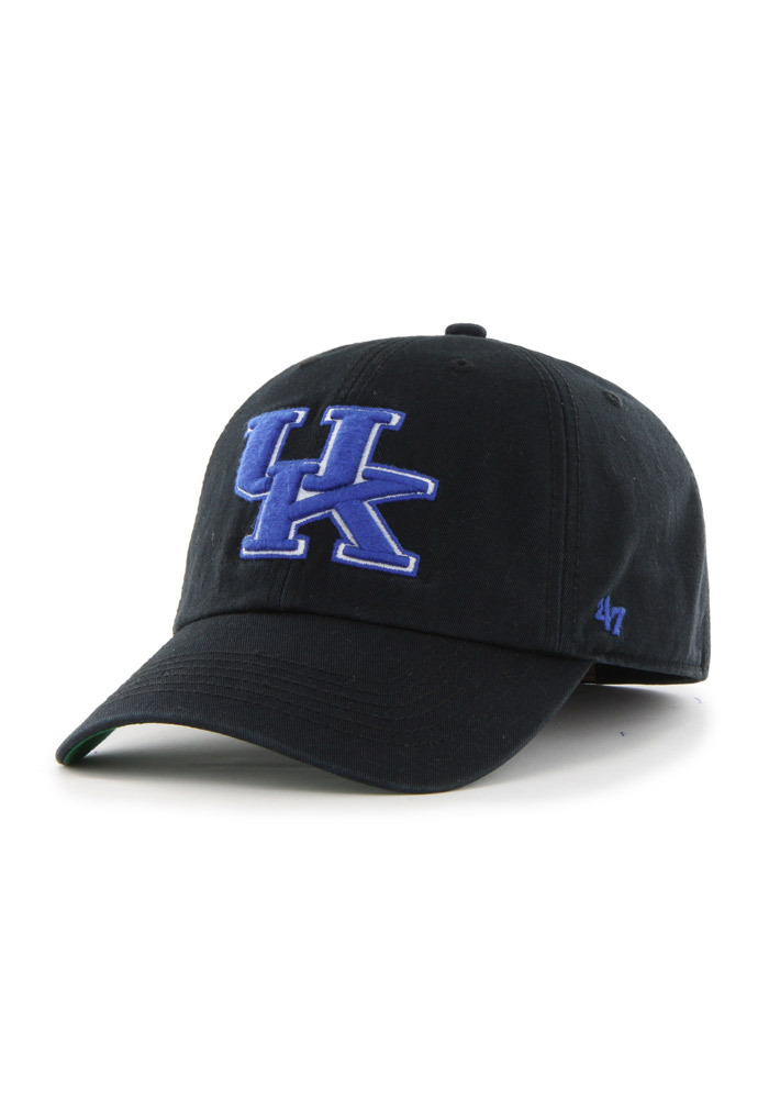 '47 Kentucky Wildcats Mens Black `47 Franchise Fitted Hat - Image 1