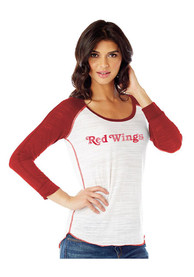 Detroit Red Wings Womens White Distressed Jersey Women's Scoop
