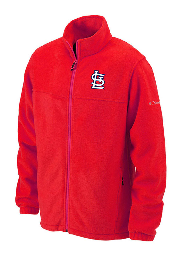 Columbia St Louis Cardinals Mens Red Flanker Light Weight Jacket - Image 1