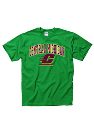 Central Michigan Chippewas Green Arch Mascot Tee