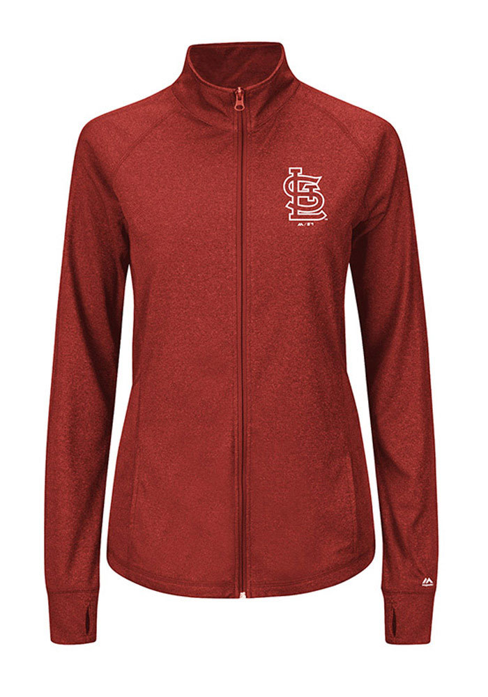 St Louis Cardinals Womens Red Her Score Long Sleeve Full Zip Jacket - Image 1