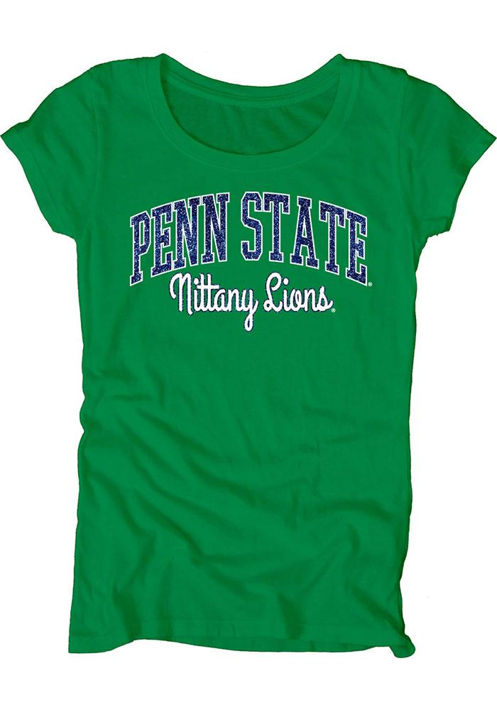 Penn State Nittany Lions Womens Green Dyed Scoopneck Scoop T-Shirt - Image 2