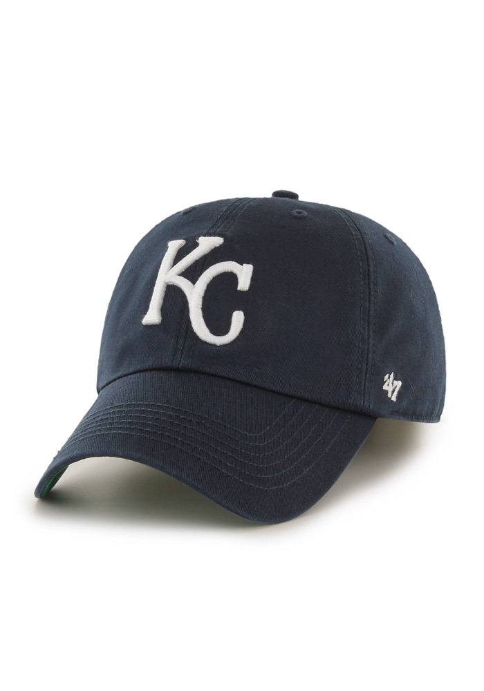 '47 Kansas City Royals Mens Navy Blue `47 Franchise Fitted Hat - Image 1