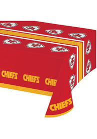 Kansas City Chiefs 54 x 108 Plastic Tablecloth