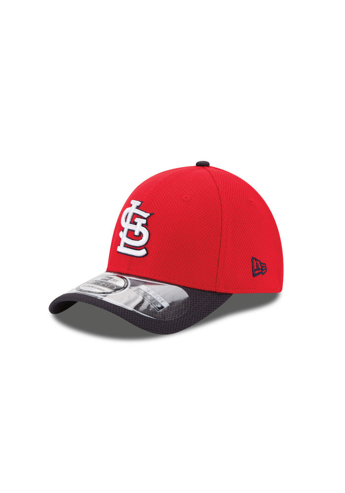St Louis Cardinals Navy Blue Jr 2Tone 3930 Youth Flex Hat - Image 1