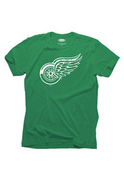 Detroit Red Wings Kelly Green St. Patricks Day Short Sleeve Fashion T Shirt