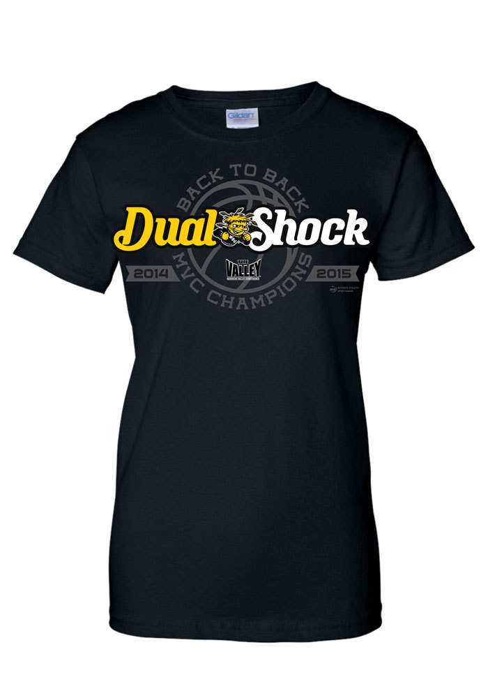Wichita State Shockers Juniors Black Conference Champs 2015 Short Sleeve Crew T-Shirt - Image 1