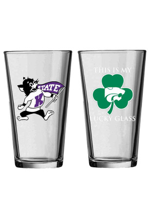 K-State Wildcats Willie Wildcat Lucky Glass Pint Glass