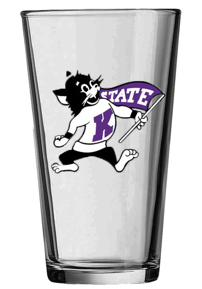 K-State Wildcats Willie Wildcat Lucky Glass Pint Glass - Image 2