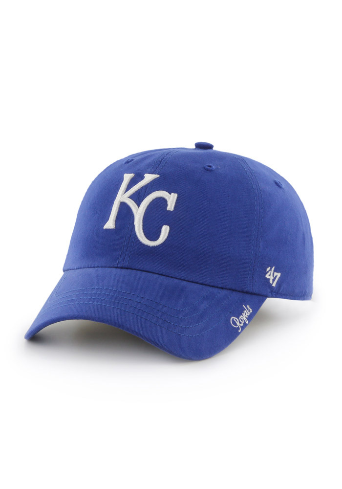 164a239557f  47 Kansas City Royals Womens Blue Miata Clean Up Adjustable Hat