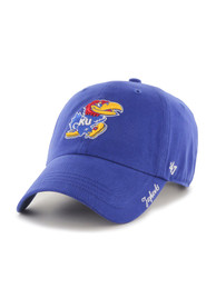 47 Kansas Jayhawks Womens Blue Miata Clean Up Adjustable Hat