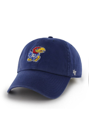 14c99572d49  47 Kansas Jayhawks Blue Clean Up Adjustable Hat