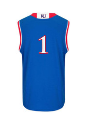 KU Jayhawks Boys Blue 4-7 Replica Basketball Jersey
