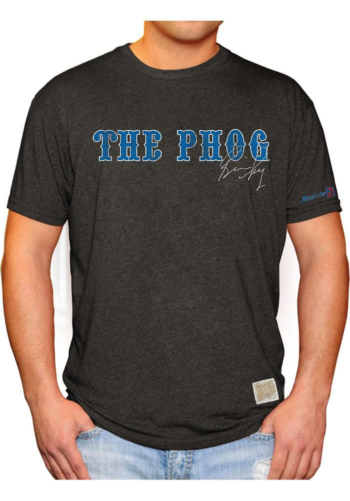 Original Retro Brand Kansas Jayhawks Mens Black Phog Short Sleeve Fashion T Shirt - Image 1