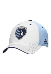 Adidas Sporting Kansas City Mens Light Blue Structure Adjustable Hat