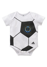 Philadelphia Union Baby White Ball Baby One Piece
