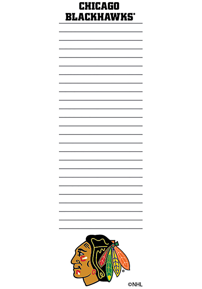 Chicago Blackhawks 2.75X8.5 Notepad - Image 1