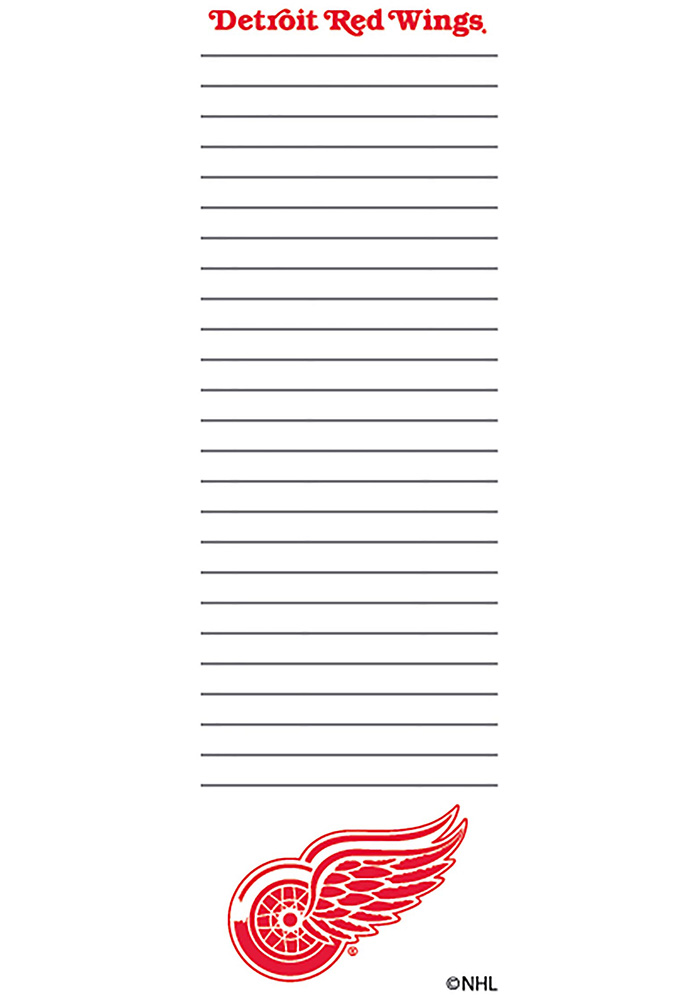 Detroit Red Wings 2.75X8.5 Notepad - Image 1