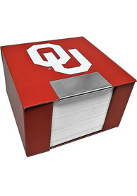 Oklahoma Sooners Leather Case Sticky Notes