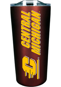 Central Michigan Chippewas Team Logo 18oz Soft Touch Stainless Steel Tumbler - Maroon