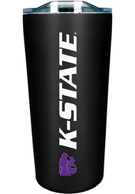 K-State Wildcats Team Logo 18oz Soft Touch Stainless Steel Tumbler - Black