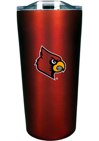 Louisville Cardinals Team Logo 18oz Soft Touch Stainless Steel Tumbler - Red
