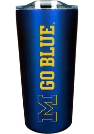 Michigan Wolverines Team Logo 18oz Soft Touch Stainless Steel Tumbler - Blue