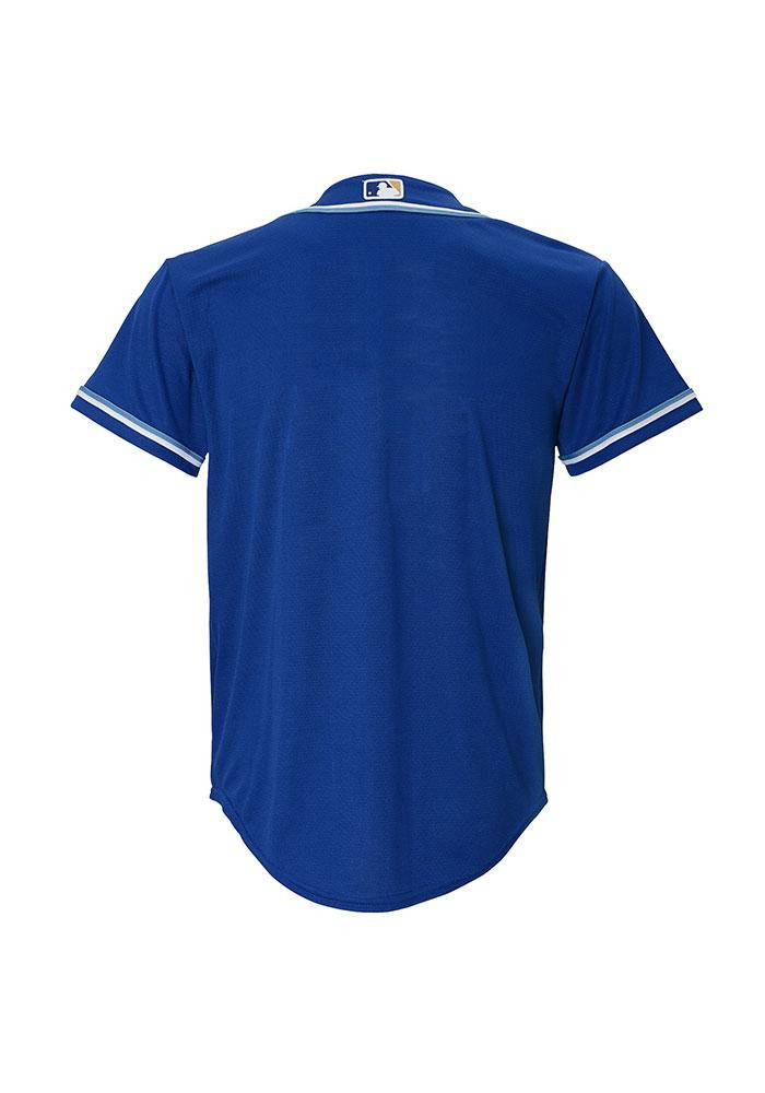 Kansas City Royals Youth Blue Youth Cool Base Replica Jersey - Image 2