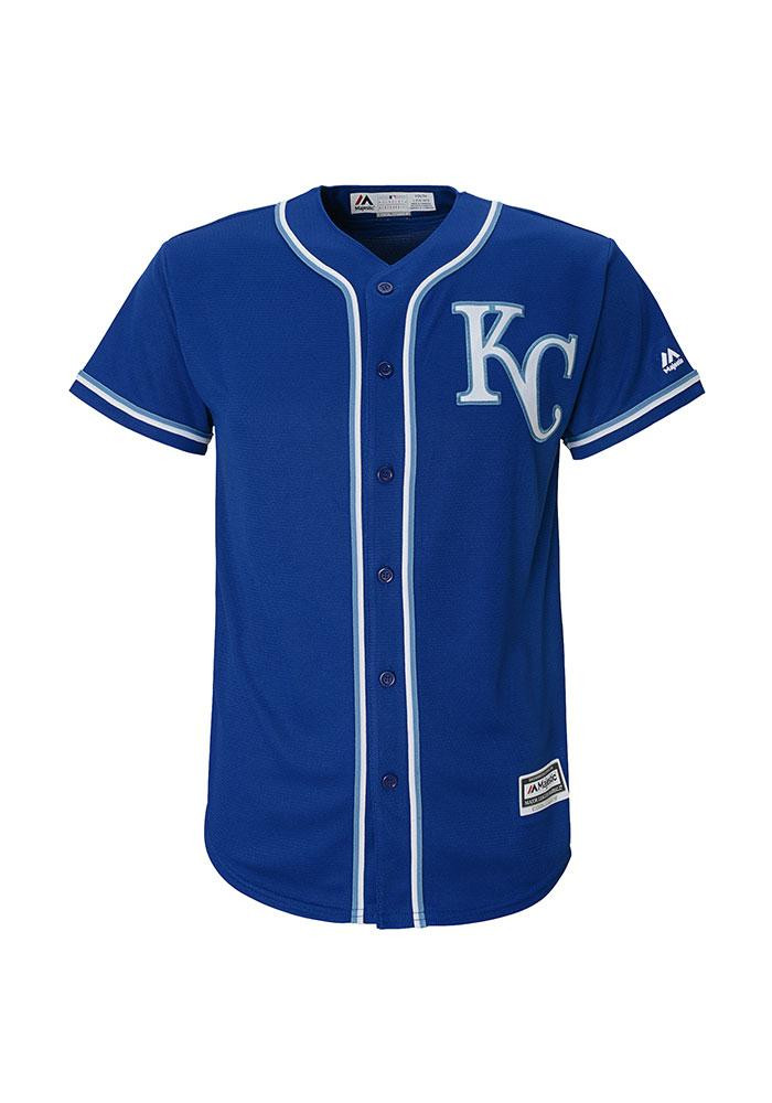 Kansas City Royals Youth Blue Youth Cool Base Replica Jersey - Image 3