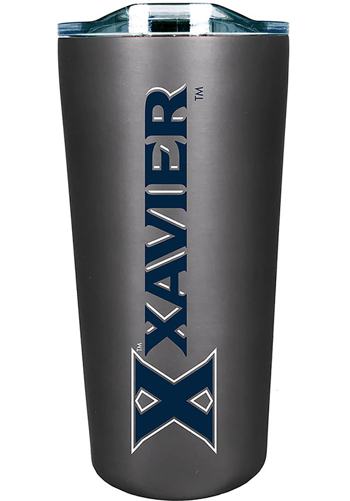 Xavier Musketeers Team Logo 18oz Soft Touch Stainless Steel Tumbler - Silver