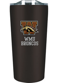 Western Michigan Broncos 18 oz Soft Touch Stainless Steel Tumbler - Black