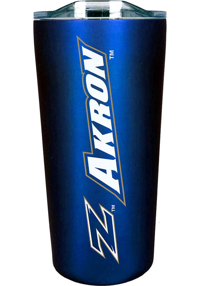 Akron Zips 18 oz Soft Touch Stainless Steel Tumbler - Blue