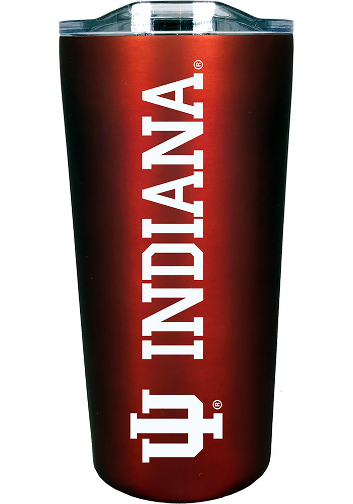 Indiana Hoosiers 18 oz Soft Touch Stainless Steel Tumbler - Red
