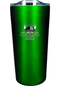 Cleveland State Vikings 18 oz Soft Touch Stainless Steel Tumbler - Green