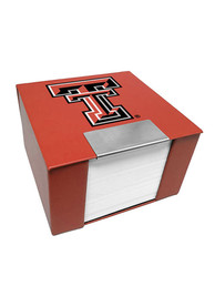 Texas Tech Red Raiders Leather Case Sticky Notes