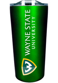Wayne State Warriors 18 oz Soft Touch Stainless Steel Tumbler - Green