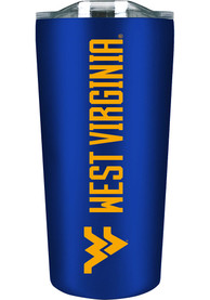 West Virginia Mountaineers 18 oz Soft Touch Stainless Steel Tumbler - Blue