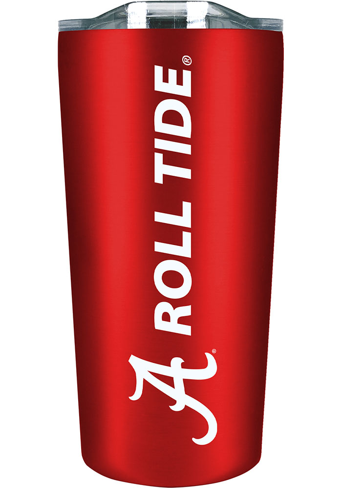 Alabama Crimson Tide 18 oz Soft Touch Stainless Steel Tumbler - Red