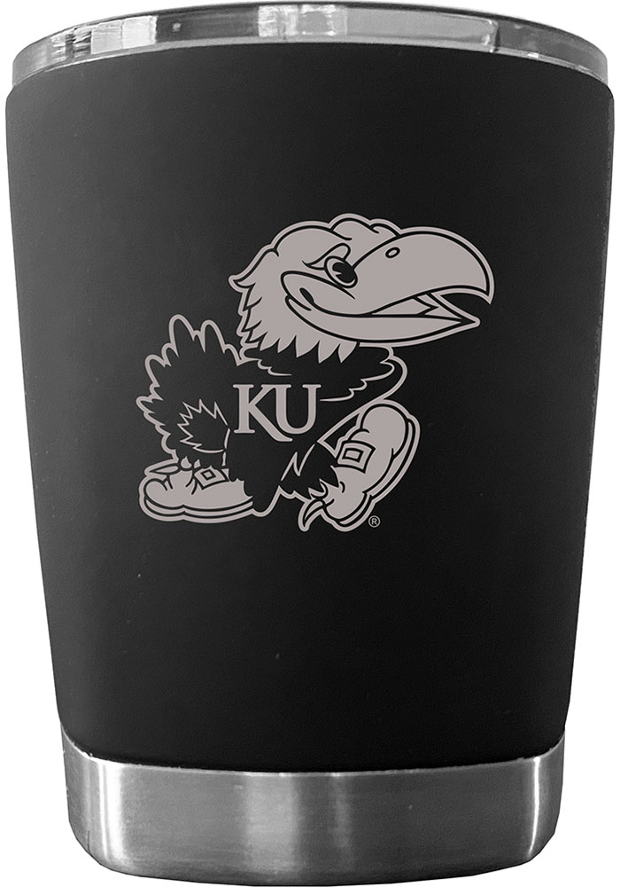 Kansas Jayhawks 12 oz Low Ball Stainless Steel Tumbler - Black