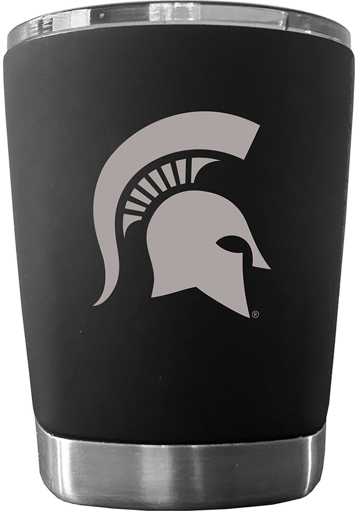 Michigan State Spartans 12 oz Low Ball Stainless Steel Tumbler - Black