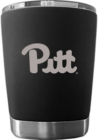 Pitt Panthers 12 oz Low Ball Stainless Steel Tumbler - Black