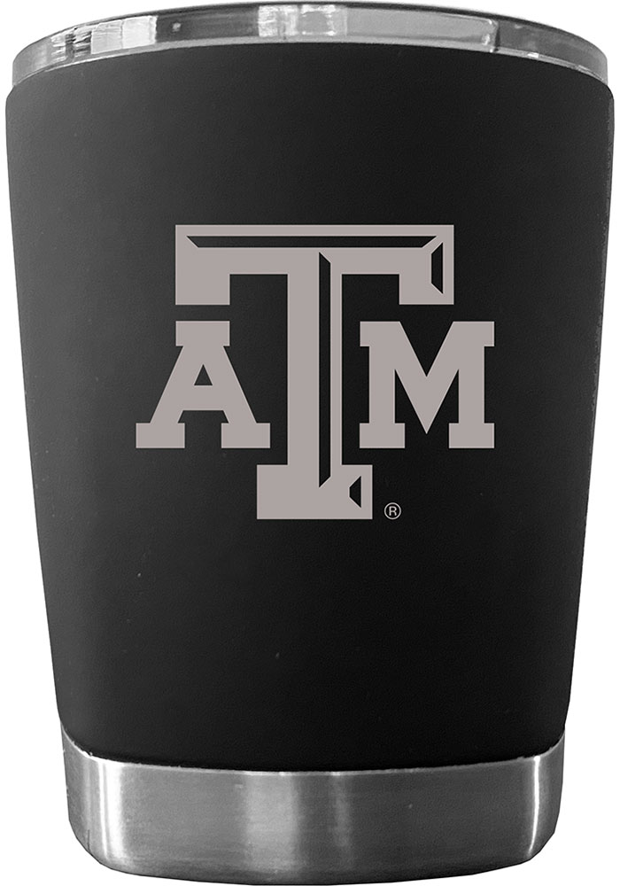 Texas A&M Aggies 12 oz Low Ball Stainless Steel Tumbler - Black